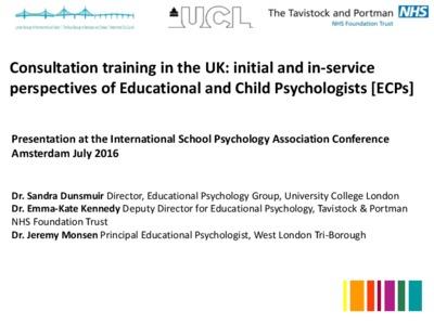 Consultation training in the UK: An exploratory qualitative